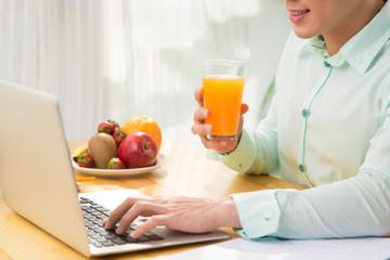 Fresh juice during work