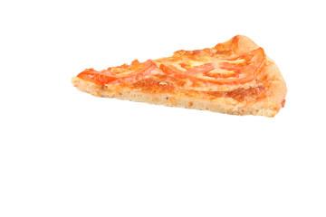 Итальянская пицца Маргарита на белом фоне