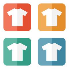 T-shirt flat blank icon symbol