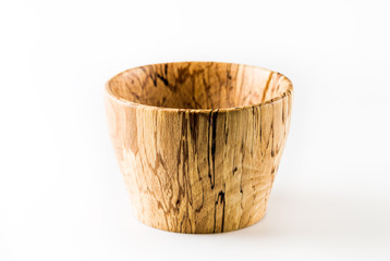 home-made wooden bowl