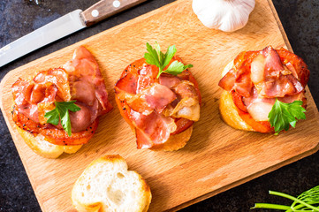 Tapas with bacon