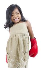 Cute boxer child