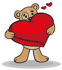 teddy bear with big heart