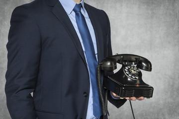 businessman presenting phone