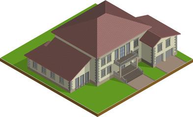 Cottage,  Estate isometric