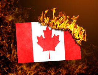 Flag burning - Canada