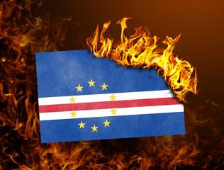 Flag burning - Cape Verde
