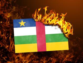 Flag burning - Central African Republic