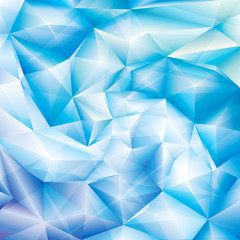 Abstract ice blue crystal spiral background.