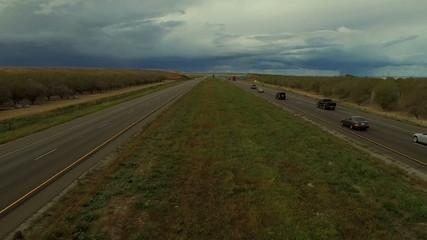 Highway Aerial Rural California