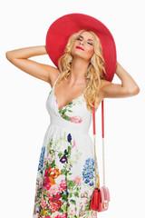 Girl in Summer hat