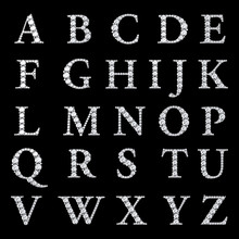 "Постер, картина, фотообои ""Diamond alphabet, letters from A to Z,"""