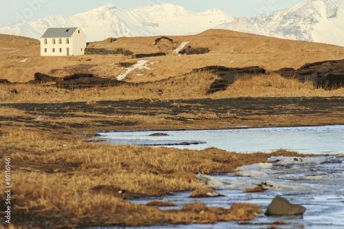 Fotobehang Antarctica 2 Islanda: spiaggia nera di Vik