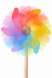 Pinwheel, rotating colorful toy on white