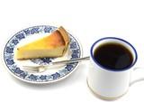 チーズケーキタルトとコーヒー