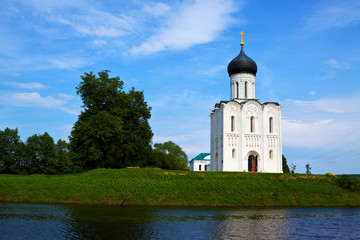 Church of the Intercession on the River Nerl in summer