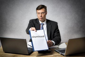 Boss dismiss somebody