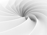 Fototapety White Abstract Wave Spiral Geometric Background