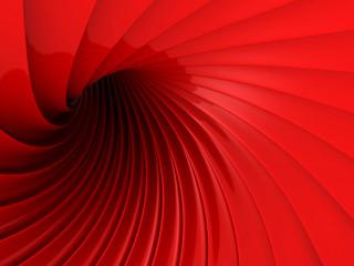 Abstract Red Glossy Wave Futuristic Background