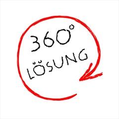 360 grad Lösung - Seminar - Flip-Chart - Zeichnung