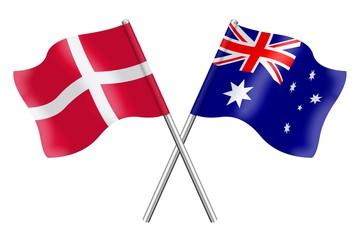Flags: Denmark and Australia