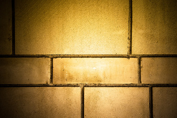 New brick wall. Background. Toned