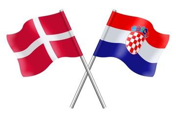 Flags: Denmark and Croatia