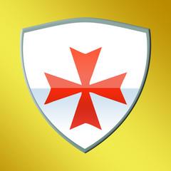 escudo orden militar hospitalaria