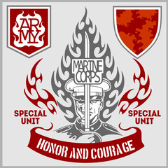 Special unit military patch - vector set
