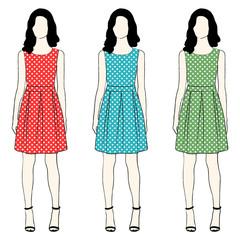 Polka dress fashion