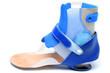 Leinwandbild Motiv Orthese gegen Fußfehlstellung