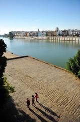 Muelle de la Sal, Sevilla, España