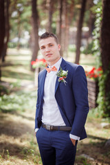 stylish groom