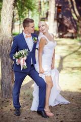 bride and groom, garter, legs