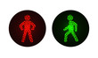 pedestrian traffic lights red and green. - 80123169
