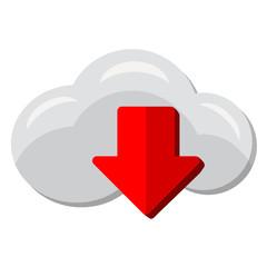 Icono bajar de la nube