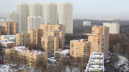 Residential Complex Elk Island. It consists of 7 buildings that have simple and laconic form and soft colors.
