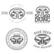 Diving_underwater_scuba_mask_lables - 80124764