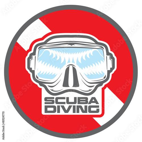 Diving_underwater_scuba_lables - 80124770