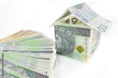House made of polish money - 80124961