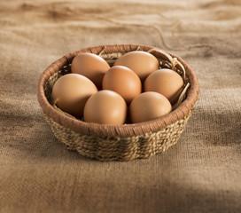 uova in cesto