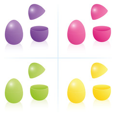 Easter Egg Box Open Closed Fillable