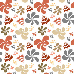 Abstract colorful floral background, seamless pattern