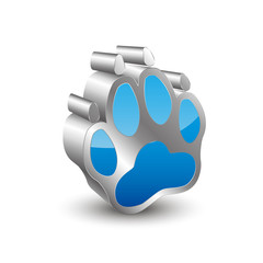 Dog's paw 3D Icon