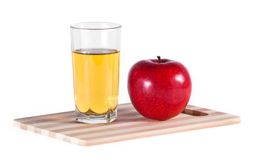 Glass of juice and apple