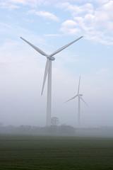 Winrad im Nebel