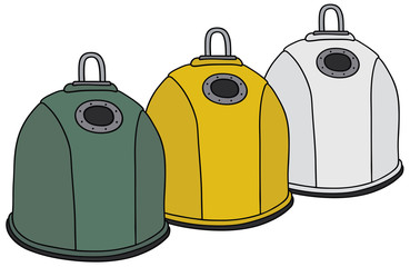 Recycling garbage containers