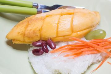 Thai dessert, Mango with sticky rice