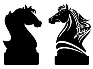 chess knight horse design
