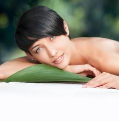 Beautiful woman in spa